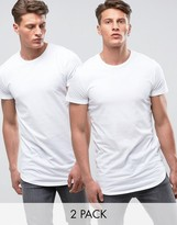 Jack and Jones Core Exclusive Longline T-Shirt Multi Pack SAVE