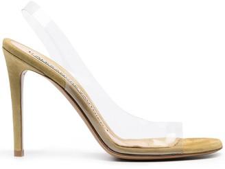 Alexandre Vauthier Amber Ghost transparent sandals