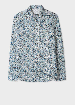 Paul Smith Men's 'Fox Camo' Print Cotton Shirt