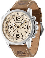 Timberland Men's Camptom Brown Leather Strap Watch 46x53mm TBL13910JS07