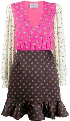 Blumarine Be Print-Mix Ruffled-Hem Dress