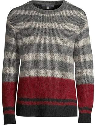 John Varvatos Multicolor Stripe Alpaca-Blend Knit Sweater
