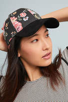 Anthropologie Floral Crown Baseball Cap