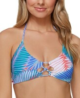 Thumbnail for your product : Raisins Juniors' Printed Puerto Palm Costa Strappy Bikini Top Women's Swimsuit