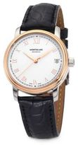 Montblanc Tradition 18K Rose Goldplated Stainless Steel Alligator Strap Watch