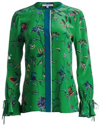 Derek Lam 10 Crosby Floral Silk Bell-Sleeve Blouse