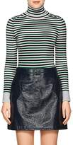 JoosTricot Women's Striped Cotton-Blend Fitted Sweater