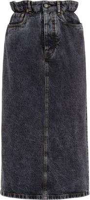 Miu Miu Denim Pencil Skirt