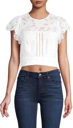 Marissa Webb Imani Open Back Lace Cropped Top