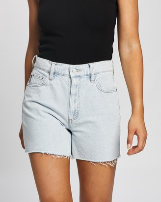 Lee Women's Blue Denim - Beau Shorts - Size 7 at The Iconic