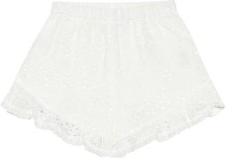 Zimmermann Kids Juniper Flounce cotton shorts