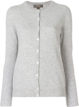 N.Peal cashmere round neck cardigan