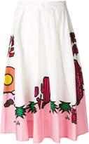 P.A.R.O.S.H. embellished printed midi skirt