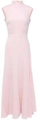 Emilia Wickstead Iona Open-back Cotton-blend Seersucker Maxi Dress