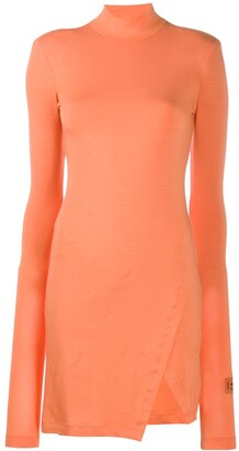 Heron Preston roll neck jersey dress