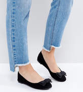 New Look Wide Fit Bow Front Ballet Pump