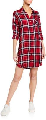 Rails Bianca Plaid Button-Down Shirt Dress