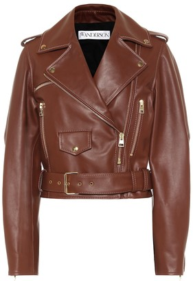 J.W.Anderson Cropped leather biker jacket
