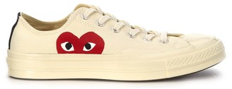 Comme des Garcons X Converse Beige Canvas Sneaker
