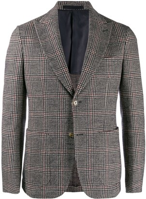 Eleventy plaid fitted blazer