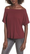 Socialite Women's Dolman Sleeve Off The Shoulder Tee