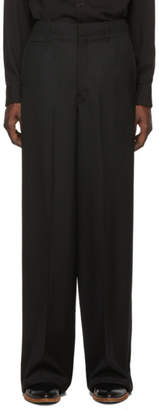 Lemaire Black Wide Leg Trousers