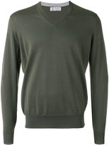 Brunello Cucinelli v-neck sweater - men - Cotton - 48