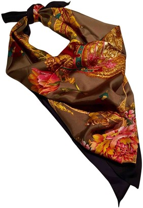 Salvatore Ferragamo Gold Silk Scarves
