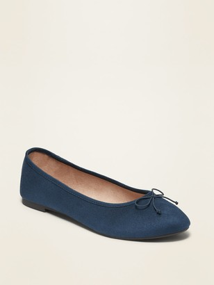 Old Navy Water-Repellent Faux-Suede Almond-Toe Flats for Women