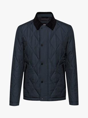 HUGO BOSS Ocrunk Water Repellent Quilted Jacket, Dark Blue