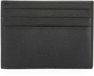 Giorgio Armani Leather Card Holder, Black