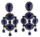 Oscar de la Renta Enamel Chandelier Clip-On Earrings