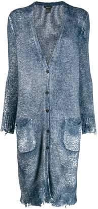 Avant Toi frayed hem button cardigan