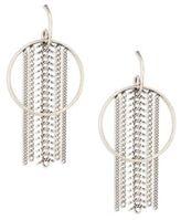 Dannijo River Chain Fringe Hoop Earrings/2