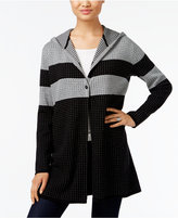 Style&Co. Style & Co. Striped Hooded Cardigan, Only at Macy's