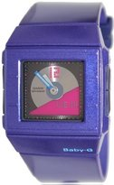Casio Women's Baby-G BGA201-2E Blue Resin Analog Quartz Watch with Dial