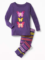 Old Navy Butterfly-Graphic Sleep Set for Toddler & Baby