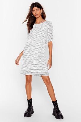 Nasty Gal Womens Girl Dot Game Pleated Mini Dress - White