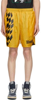 Rhude Yellow Warm-Up Shorts