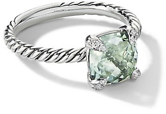David Yurman Chatelaine Ring With Gemstone & Diamonds