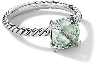 David Yurman Chatelaine Ring With Gemstone & Diamonds
