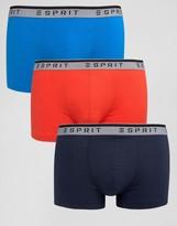 Esprit Trunks 3 Pack Contrast Waistband