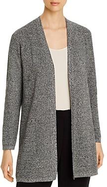 Eileen Fisher Silk & Organic Linen Open Cardigan