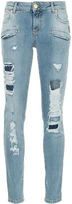 Pierre Balmain Ripped Skinny Jeans