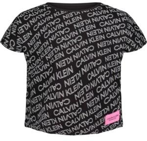 Calvin Klein Big Girls Exploded Logo T-shirt