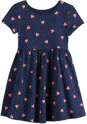 Toddler Girl Jumping Beans Heart Skater Dress