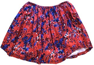 Carven Red Cotton Skirt for Women