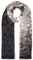 Alexander McQueen Skull and rose printed scarf