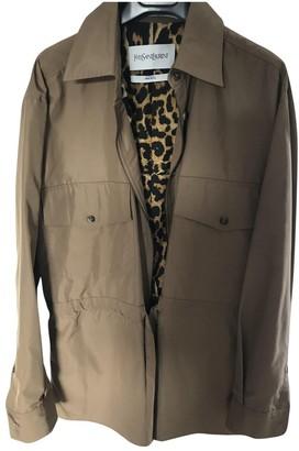 Saint Laurent Brown Coat for Women Vintage
