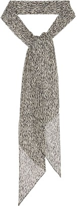 Saint Laurent Zebra-Print Scarf
